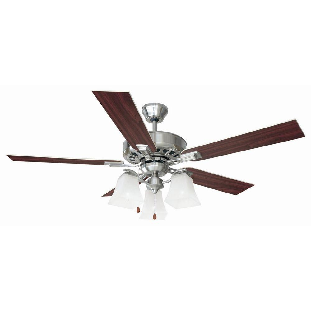 Design House Torino 52 In Satin Nickel Ceiling Fan 154138 The Home Depot