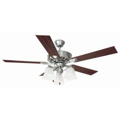 Torino 52 in. Satin Nickel Ceiling Fan
