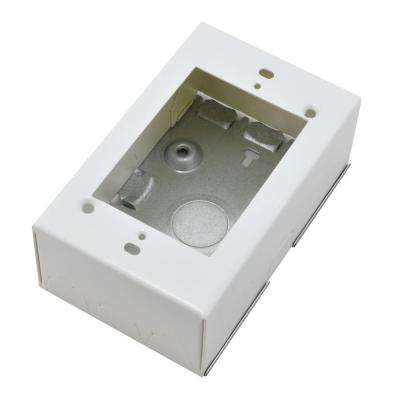 700 Series Metal Surface Raceway Extra-Deep Electrical Box, White