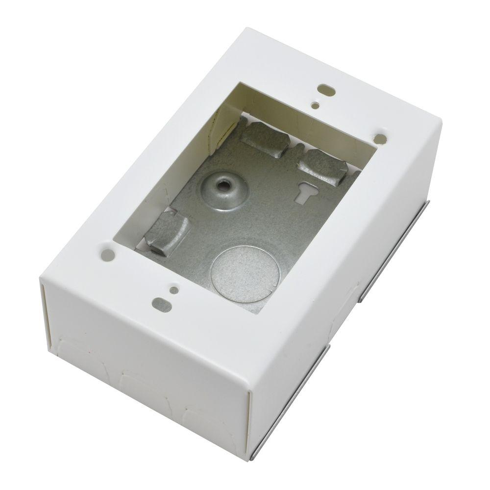 Legrand Wiremold 700 Series Metal Surface Raceway Extra-Deep Electrical Box, White