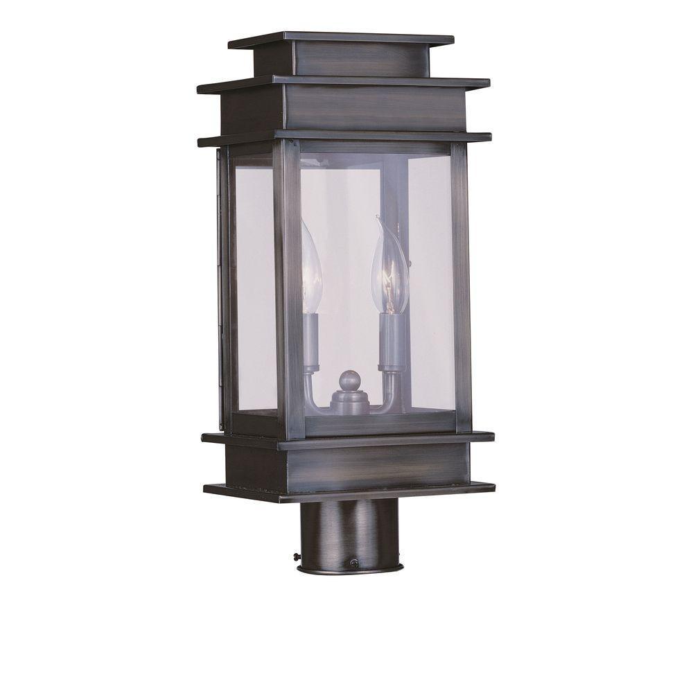 Filament Design Providence 2-Light Outdoor Vintage Pewter Incandescent Post Head Light