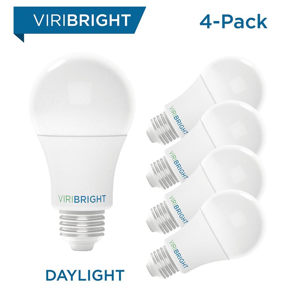 Viribright 100-Watt Equivalent Soft White (2700K) A19 E26 Base LED Light Bulbs (4-Pack)