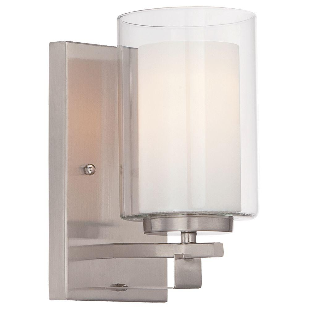 Minka Lavery Parsons Studio 1 Light Brushed Nickel Bath Wall Mount