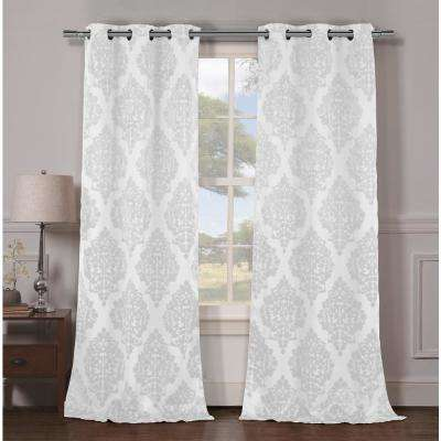Catalina 36 in. W x 96 in. L Polyester Window Panel in White