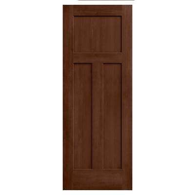 24 in. x 80 in. Craftsman Milk Chocolate Stain Solid Core Molded Composite MDF Interior Door Slab