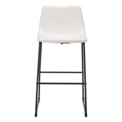 Smart 28.7 in. Distressed White Bar Chair
