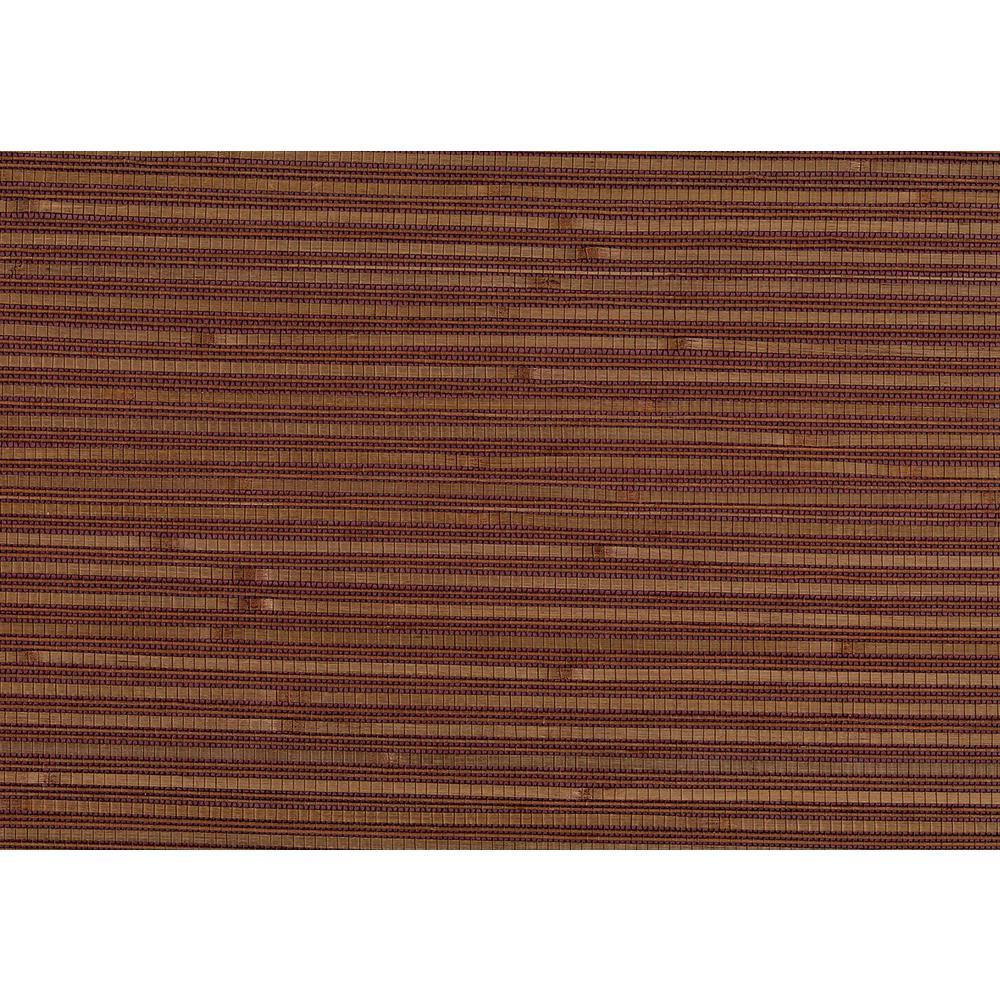 Kenneth James 8 in. x 10 in. Shou Burgundy Grasscloth Wallpaper