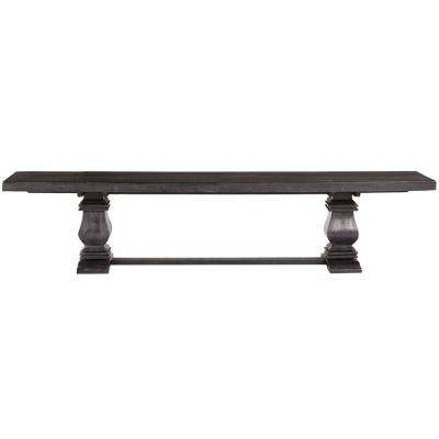 Aldridge 70.5 in. W Washed Black Bench