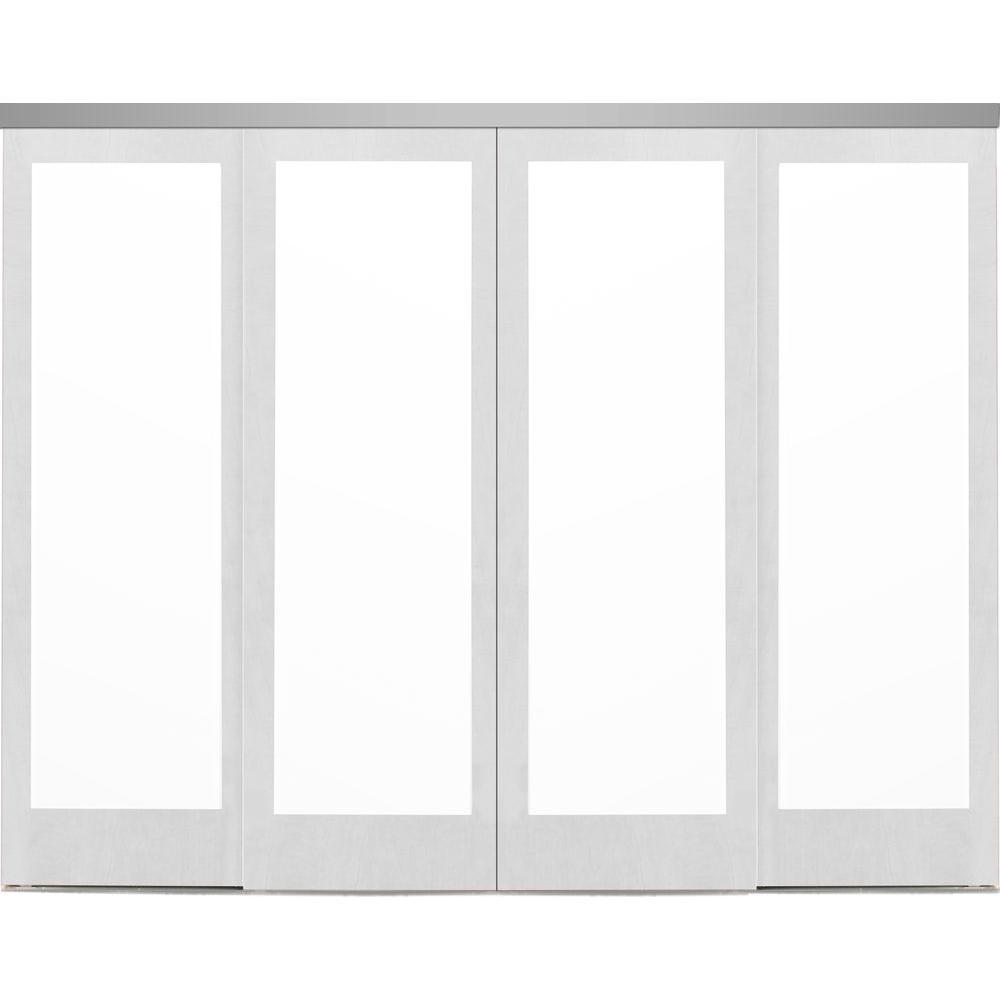 Mir-Mel Mirror Primed Chrome Trim Solid MDF Interior Closet Sliding Door