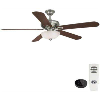 Asbury 60 in. LED Brushed Nickel Ceiling Fan with Light Kit Works with Google Assistant and Alexa