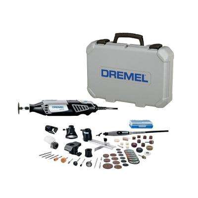 4000 Series 1.6 Amp Variable Speed Corded High Performance Rotary Tool Kit with 50 Accessories, 6 Attachments and Case