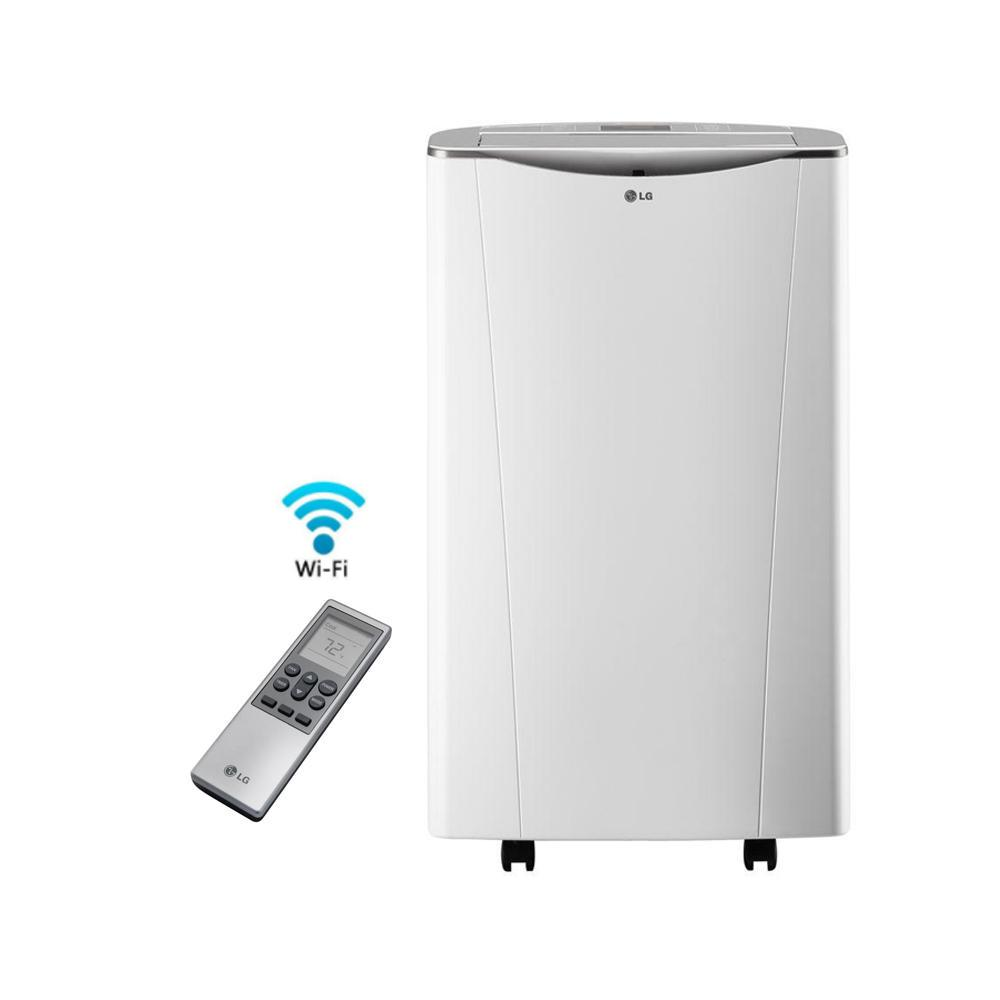 Lg electronics smart 14000 btu portable air conditioner and lg electronics smart 14000 btu portable air conditioner and dehumidifier function w wi fi fandeluxe Choice Image