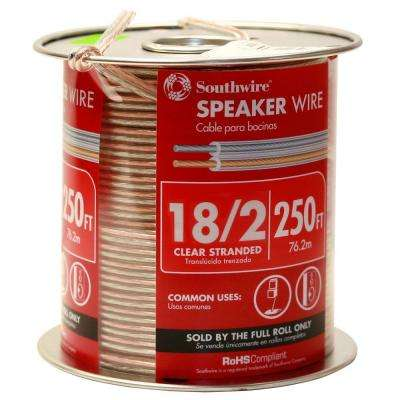 250 ft. 18/2 Clear Stranded CU Speaker Wire
