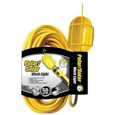 100-Watt 50 ft. 16/3 SJEO Incandescent Guarded Portable Trouble Work Light with Hanging Hook