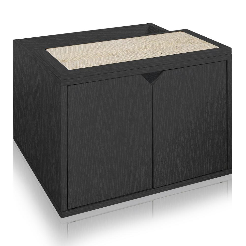 Eco Board Black Modern Cat Litter Box Enclosure