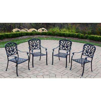 Hampton Cast Aluminum Stackable Patio Dining Chair (4 Pack)
