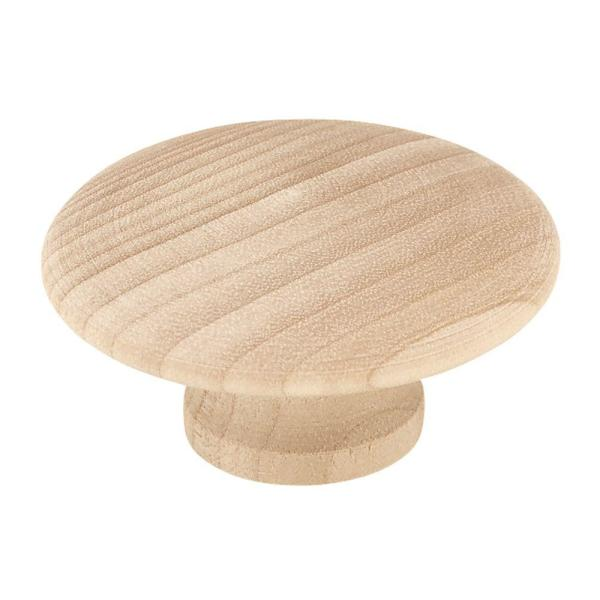 Classic 1-13/16 in. (46 mm) Unfinished Birch Wood Round Cabinet Knob