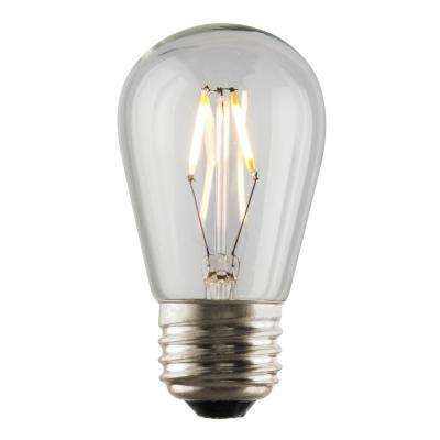 1W Equivalent 2,400K S14 Dimmable LED Filament Light Bulb