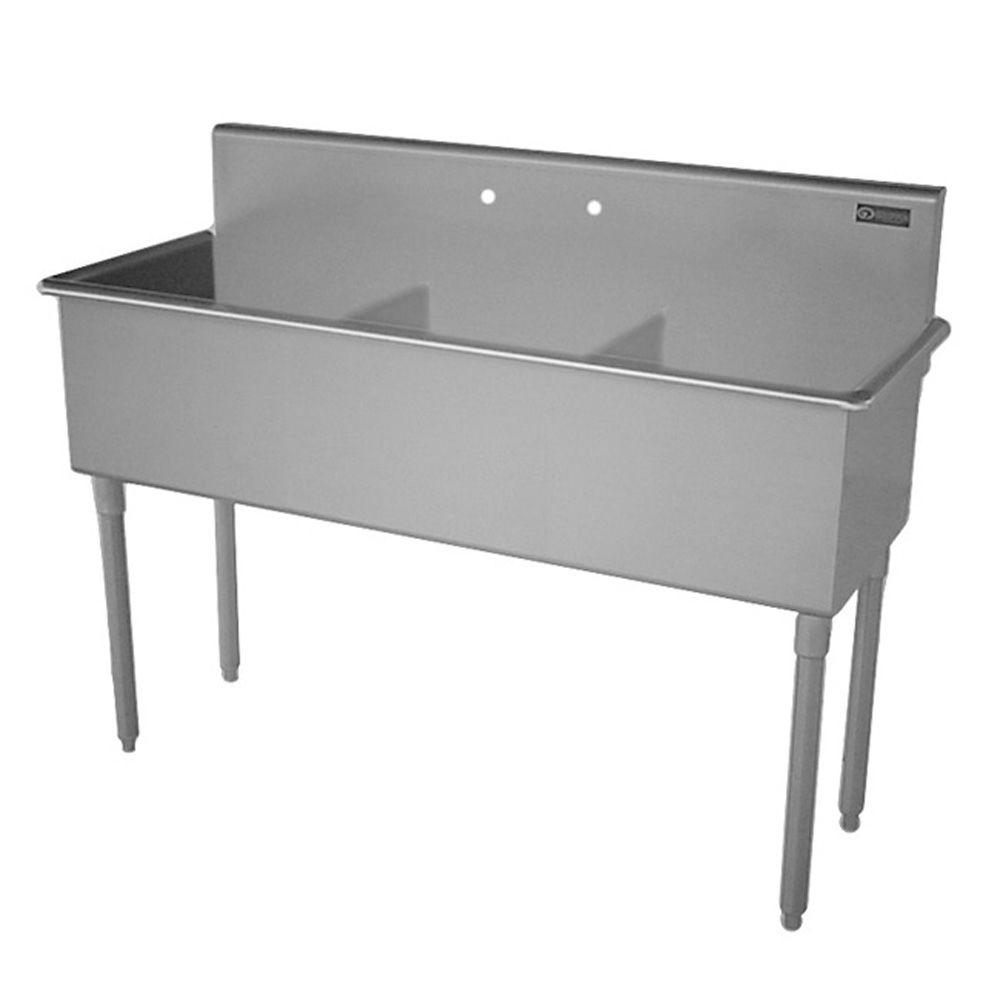 Triple Bowl Kitchen Sinks Griffin products t series freestanding stainless steel 18 in 2 hole griffin products t series freestanding stainless steel 18 in 2 hole triple bowl workwithnaturefo