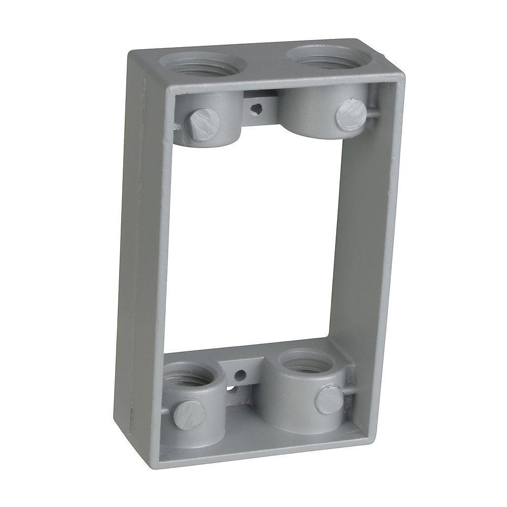 4 4 Weatherproof Electrical Box: 1-Gang Junction Box Extension With 4 1/2 In. Holes (Case