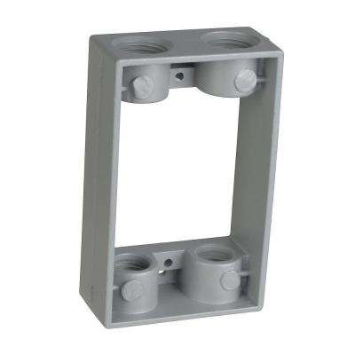 1-Gang Junction Box Extension with 4 1/2 in. Holes (Case of 6)