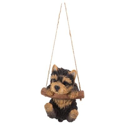 Yorkshire Terrier Puppy Hanging Statue