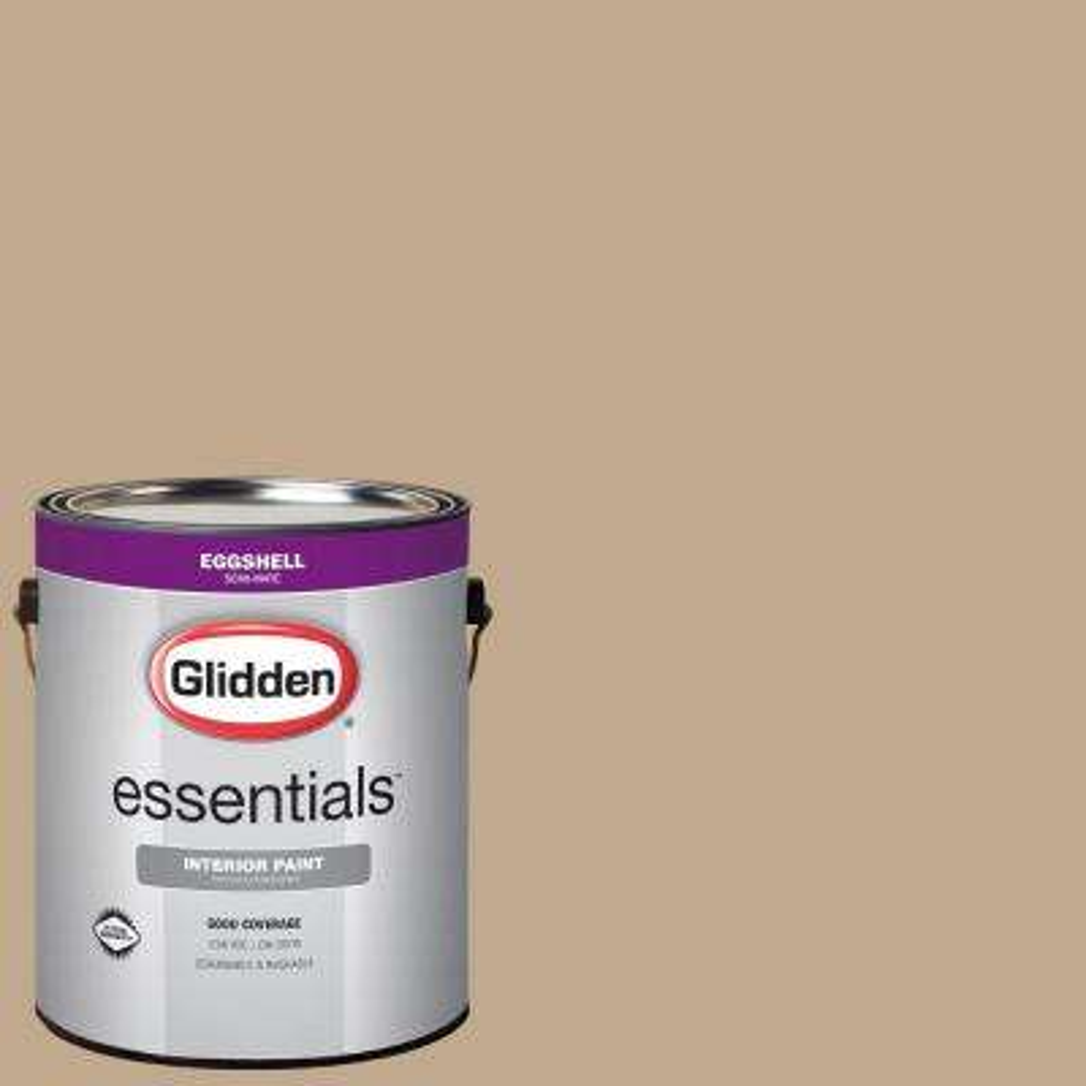 1 gal. #HDGWN33 Camel Tan Eggshell Interior Paint