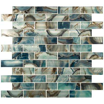 Night Sky Subway 11.81 in. x 11.81in. x 8mm Glass Mesh-Mounted Mosaic Tile (0.97 sq. ft.)