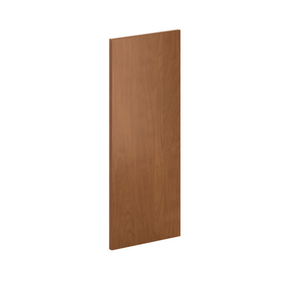 Hampton Bay 12 in, x 30 in. x.0.125 in. Kitchen Cabinet Flush-Fit End Panel  in Chestnut (2-Pack)