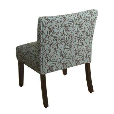 Swirl Pattern in Teal Parker Accent Chair and Pillow