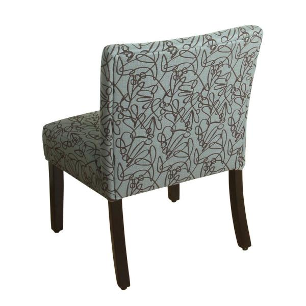 Homepop Swirl Pattern In Teal Parker Accent Chair And