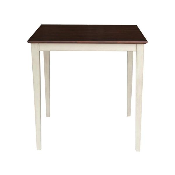 International Concepts Antiqued Almond and Espresso Shaker Pub/Bar Table