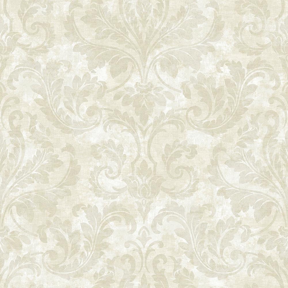 Autumn Breeze Lavender Faux Grasscloth Wallpaper