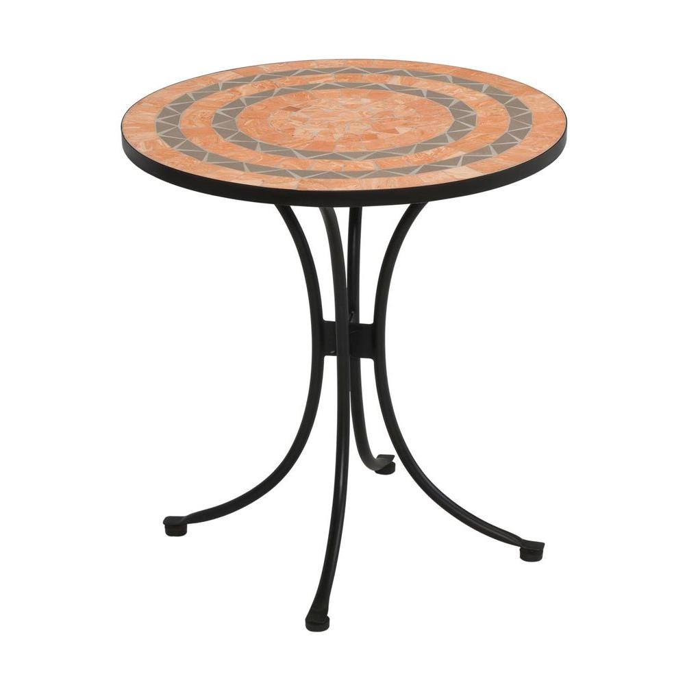 Home Styles Terra Cotta 28 in. Tile Top Patio Bistro Table