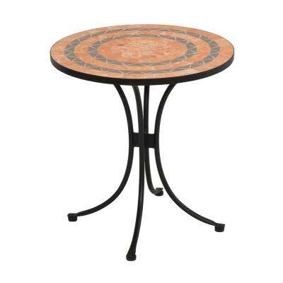 Terra Cotta 28 in. Tile Top Patio Bistro Table