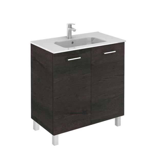 Ws Bath Collections Logic 31 5 In W X 18 0 In D X 33 0 In H Bath Vanity In Wenge With Vanity Top And Ceramic White Basin Logic 80 We The Home Depot