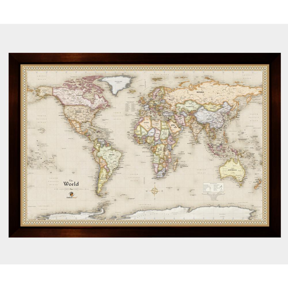 Winding Hills Designs Llc Magnetic Travel Map World