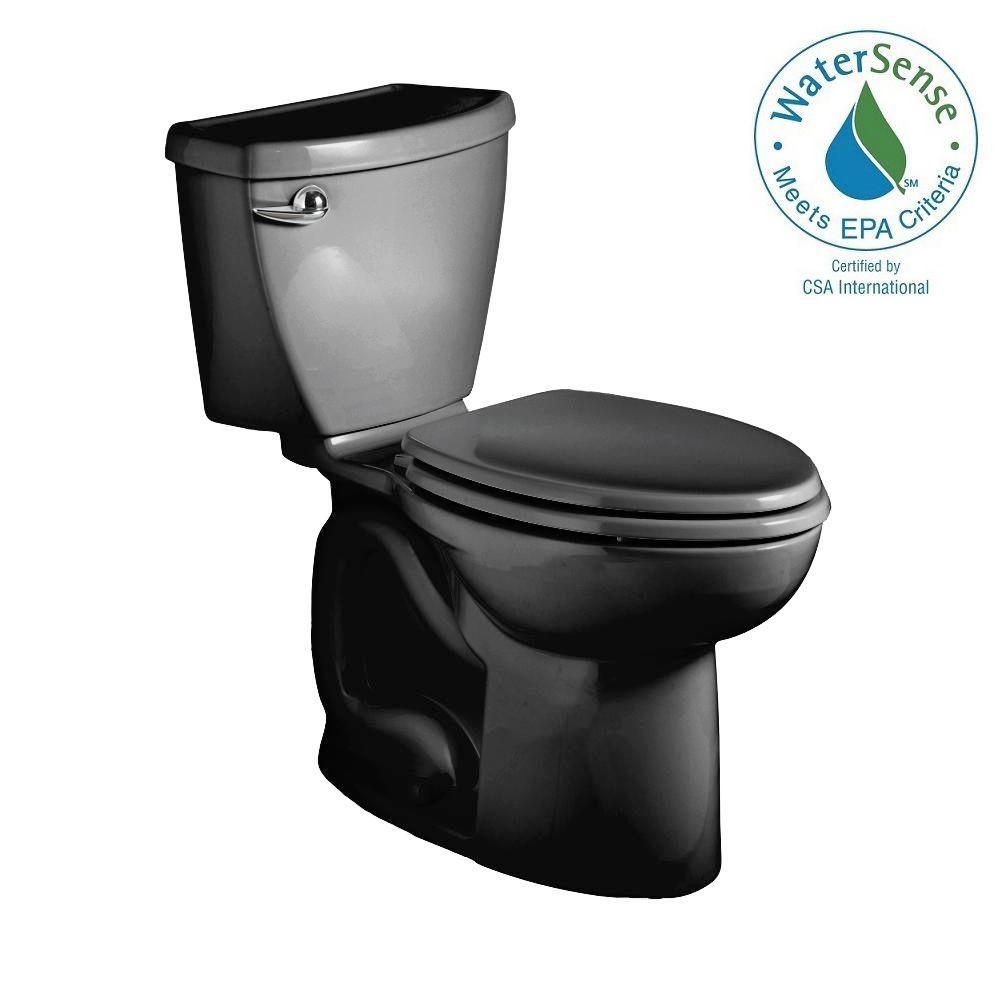 American Standard Cadet 3 Powerwash Right Height 2-piece 1.28 GPF Elongated Toilet in Black