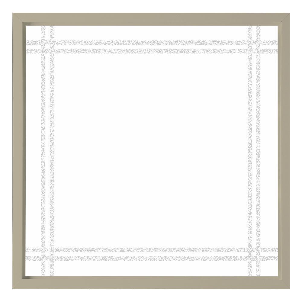 47.5 in. x 47.5 in. Prairie Decorative Glass Picture Vinyl Window - Tan