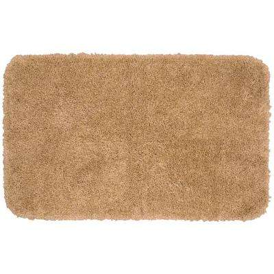 Serendipity Taupe 30 in. x 50 in. Washable Bathroom Accent Rug