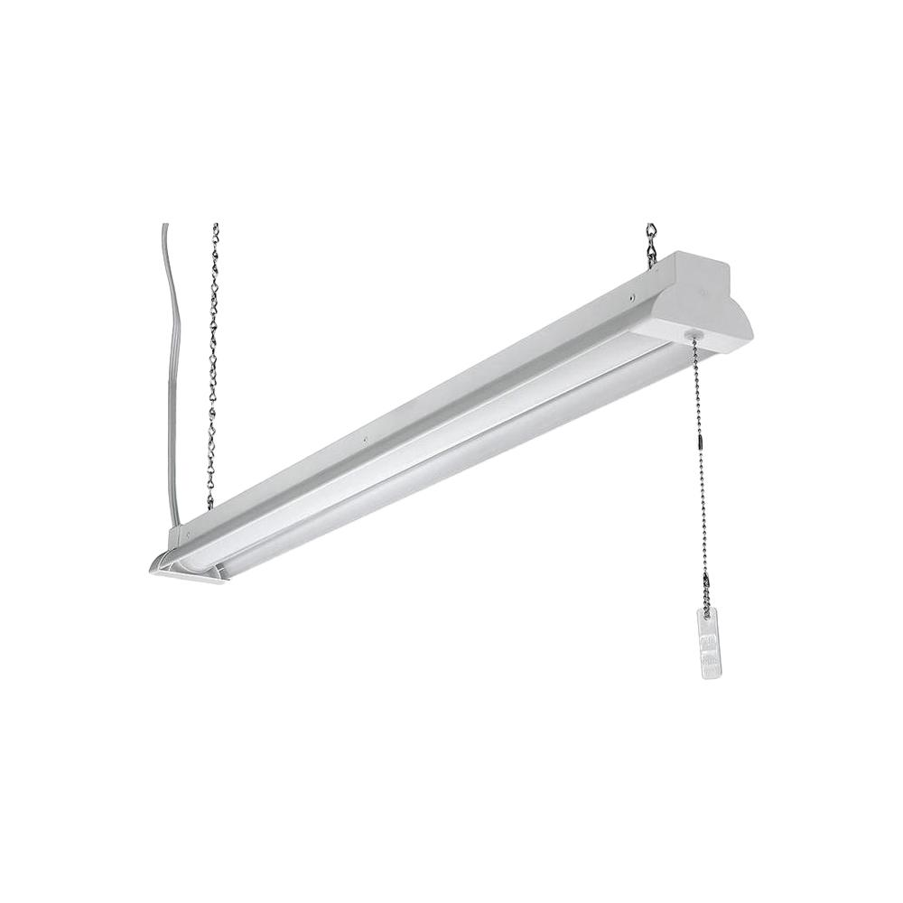 ETi 3.3 ft. White 2800 Lumen Integrated LED Shop Light with Pull Chain and Hanging Chain
