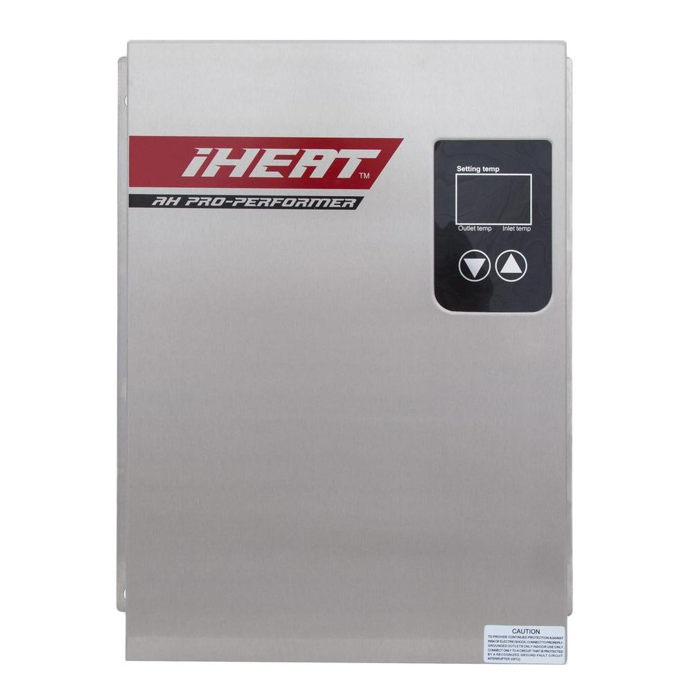 iheat 18 kw realtime modulating 38 gpm electric tankless water heater