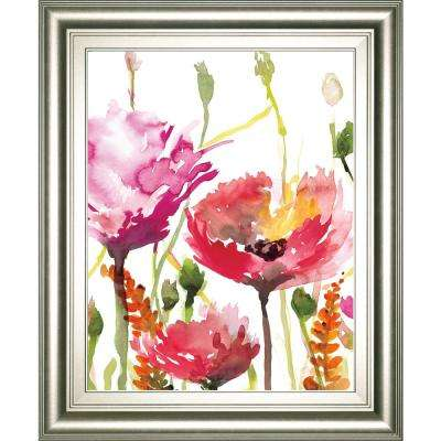 """22 in. x 26 in. """"Blooms and Buds"""" by Rebecca Meyers Framed Printed Wall Art"""