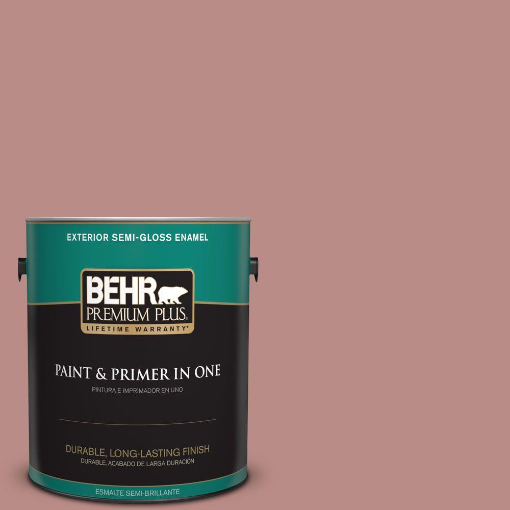 1-gal. #170F-5 Brick Dust Semi-Gloss Enamel Exterior Paint