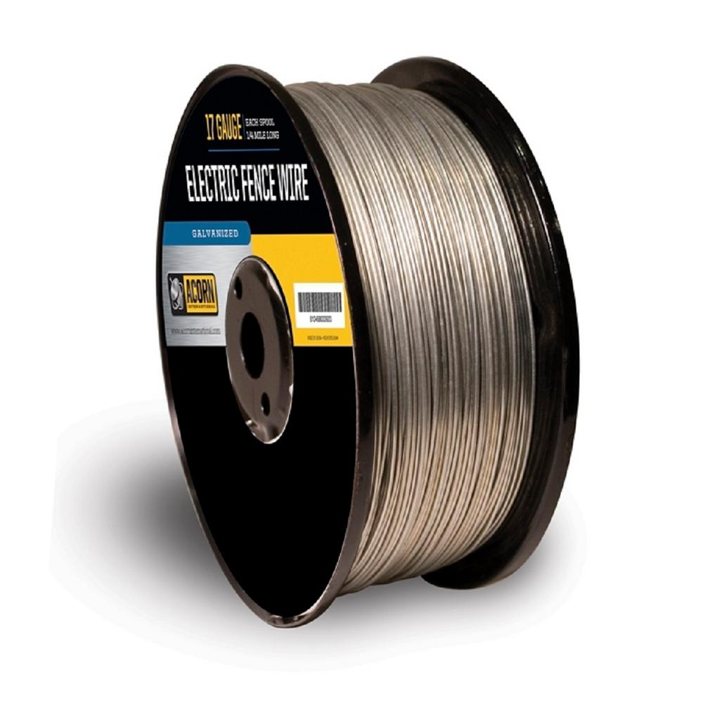 Acorn International 1-Mile 17-Gauge Electric Fence Wire-EFW1712 ...