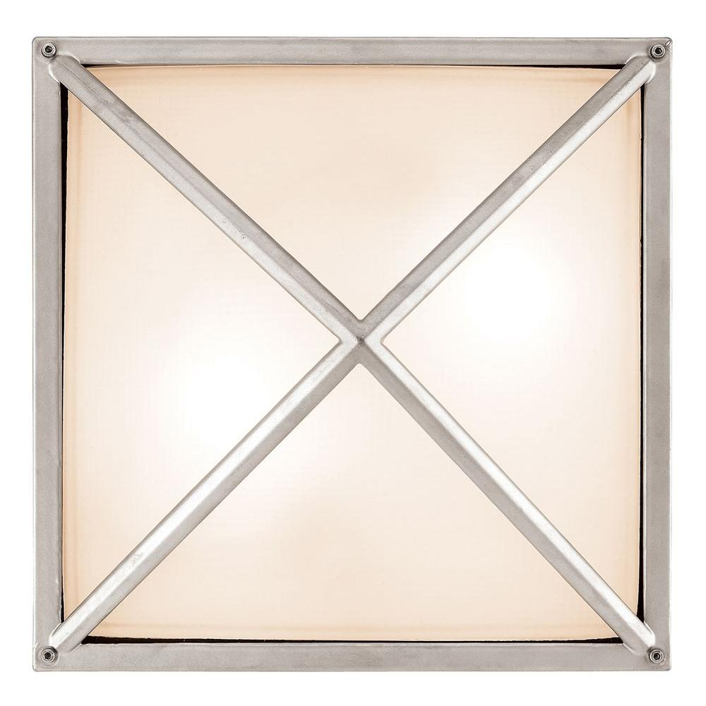 Access Lighting 2-Light Outdoor Wall Sconce Satin Finish Frosted Glass-DISCONTINUED