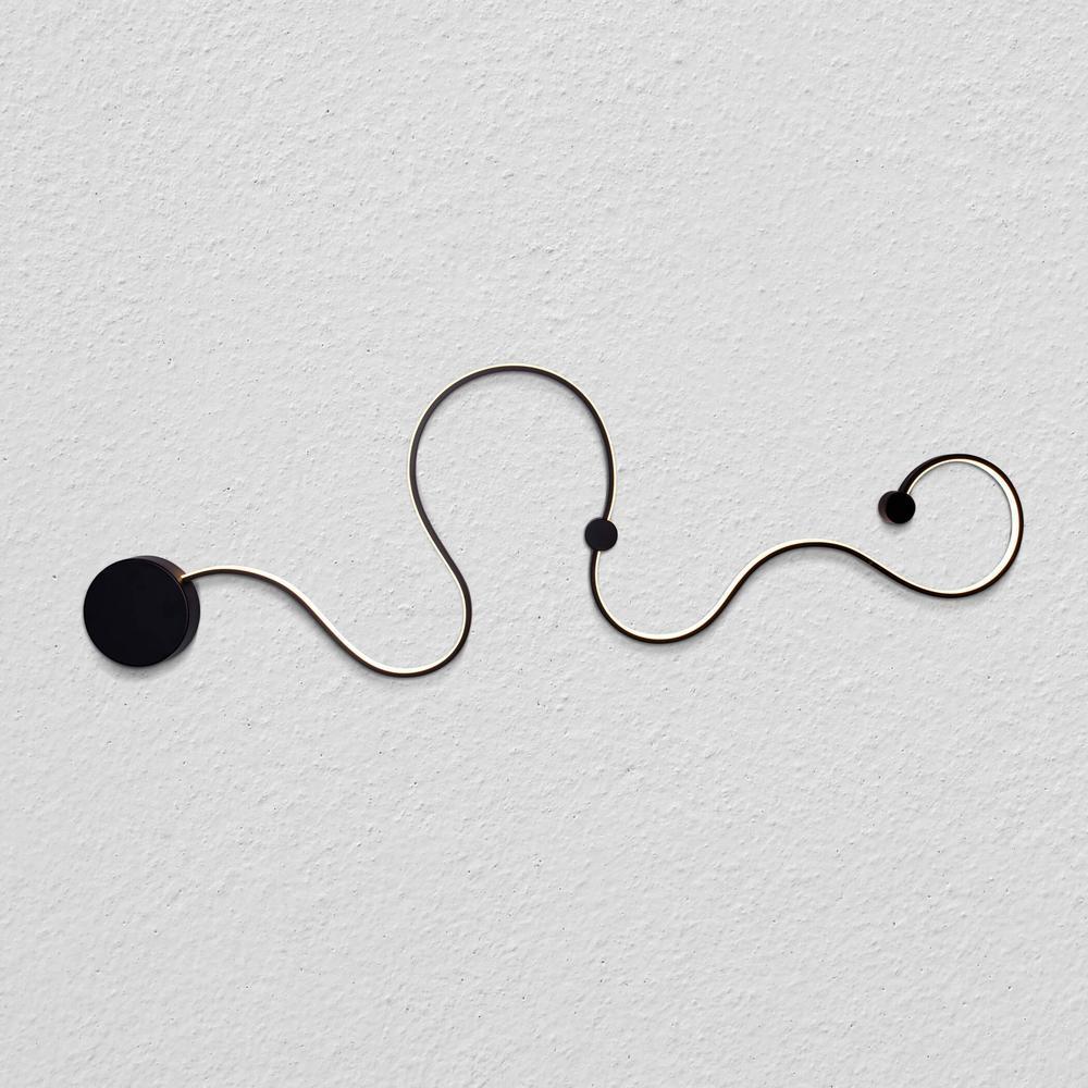 Sirius 36-Watt Black Integrated LED Sconce