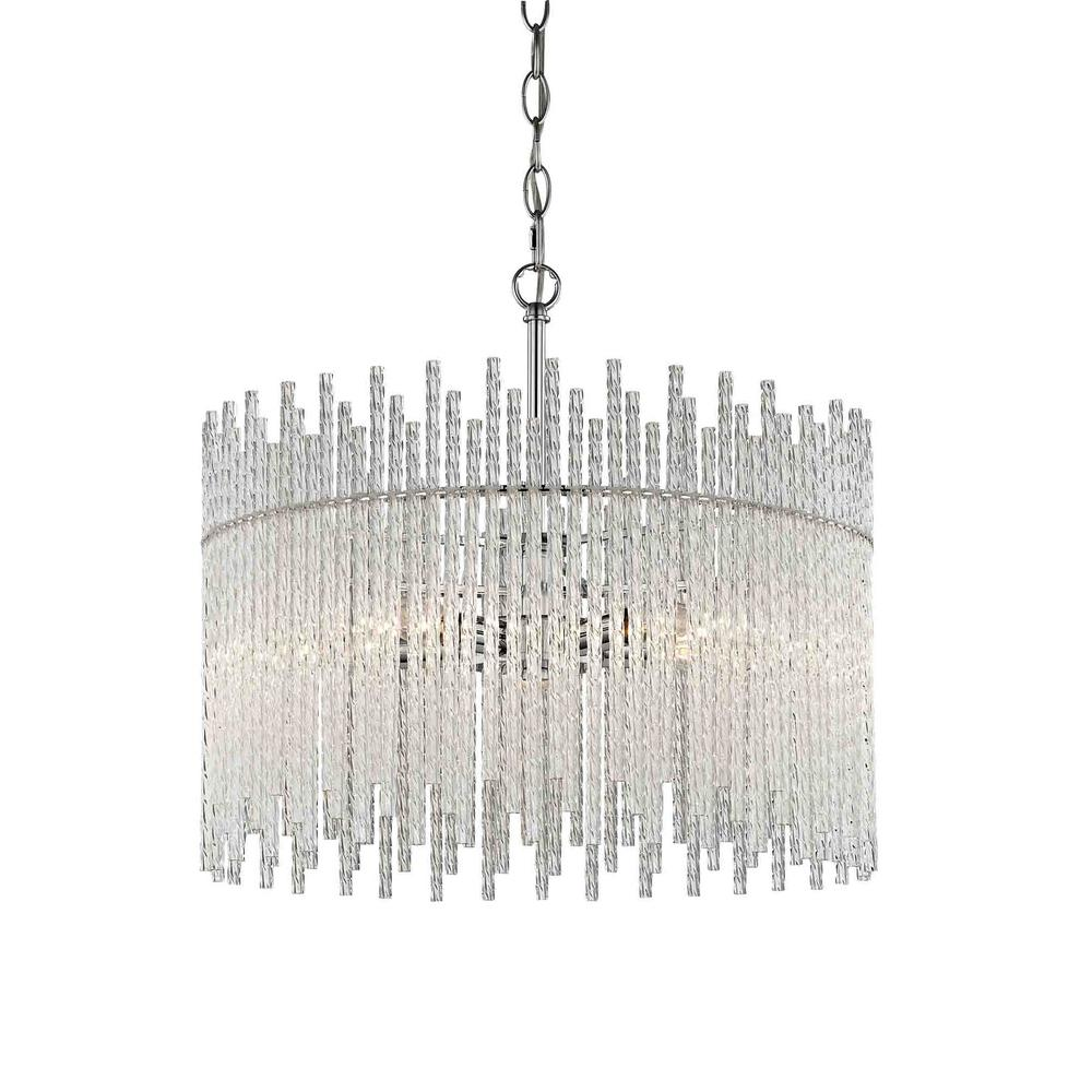 Fifth and Main Lighting Swizzle 5-Light Polished Chrome Pendant