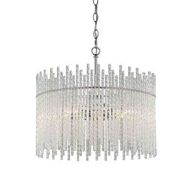 Swizzle 5-Light Polished Chrome Pendant