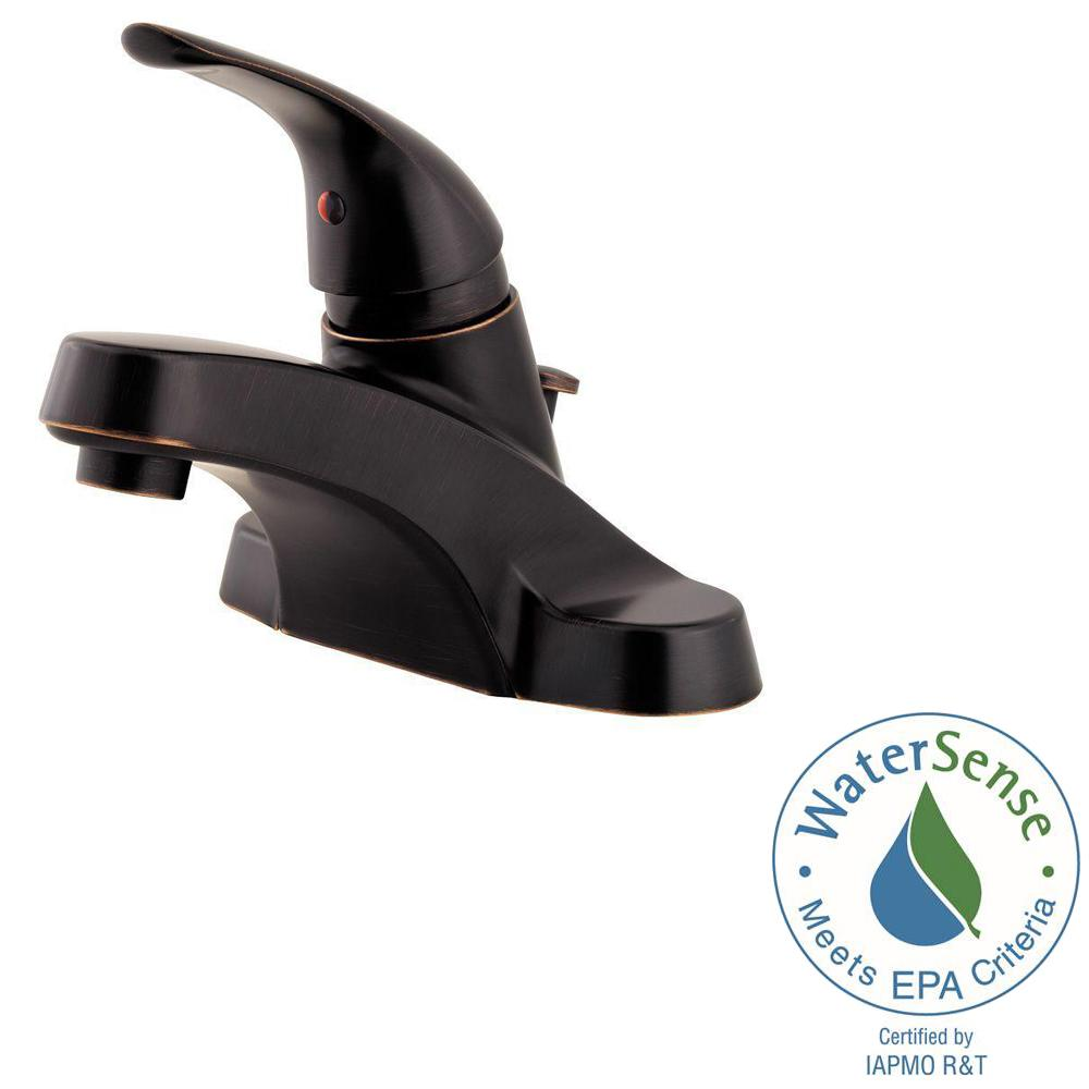 Pfister Pfirst Series 4 in. Centerset Single-Handle Bathroom Faucet ...